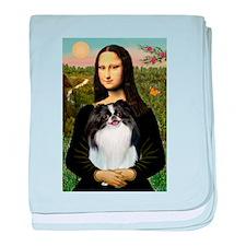 Mona Lisa & Japanese Chin baby blanket