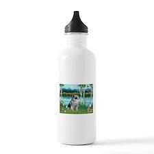 Birches/Keeshond Water Bottle