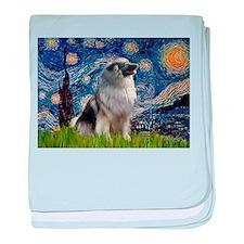 Starry Night & Keeshond baby blanket
