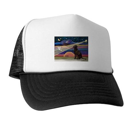 Xmas Star Chocolate Lab Trucker Hat