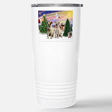 Treat for 2 Yellow Labs Travel Mug