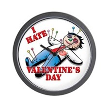 I Hate Valentine's Day Wall Clock