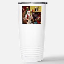Santa's Yellow Lab #7 Travel Mug