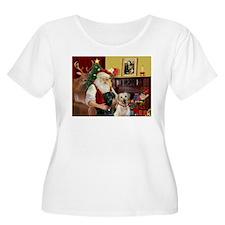 Santa's 2 Labs (Y+B) T-Shirt