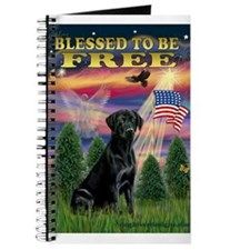 Blessed/Free-Black Lab Journal