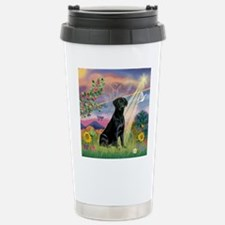Cloud Angel & Black Lab Stainless Steel Travel Mug