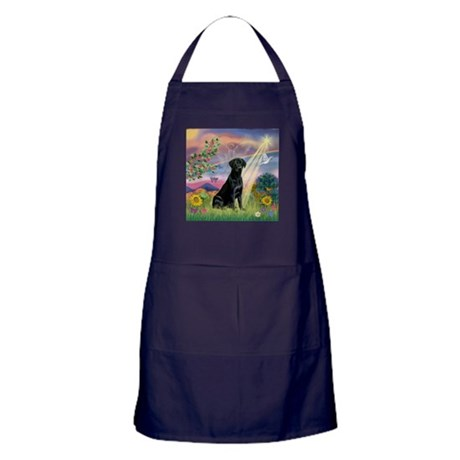 Cloud Angel & Black Lab Apron (dark)