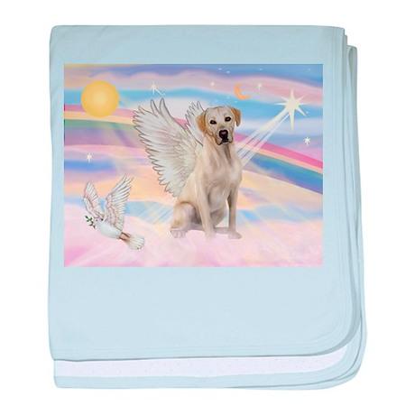 Yellow Labrador Angel baby blanket