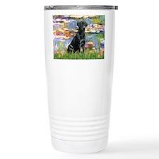 Lilies (#2) & Black Lab Travel Mug