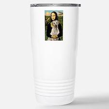 Mona & her Yellow Lab Stainless Steel Travel Mug