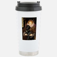 The Queen's Black Lab Travel Mug