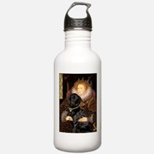 The Queen's Black Lab Water Bottle