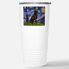 Starry Chocolate Lab Travel Mug