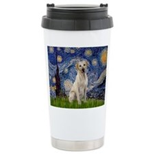 Starry Night Yellow Lab Travel Coffee Mug