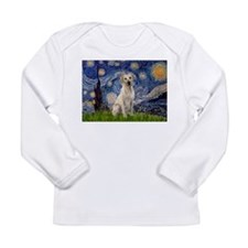 Starry Night Yellow Lab Long Sleeve Infant T-Shirt
