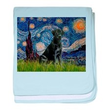 Starry Night Black Lab baby blanket