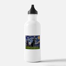 Starry Night Black Lab Water Bottle