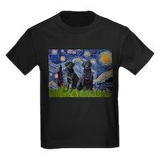 Starry Night / 2 Black Labs T