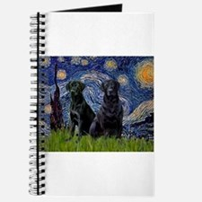 Starry Night / 2 Black Labs Journal