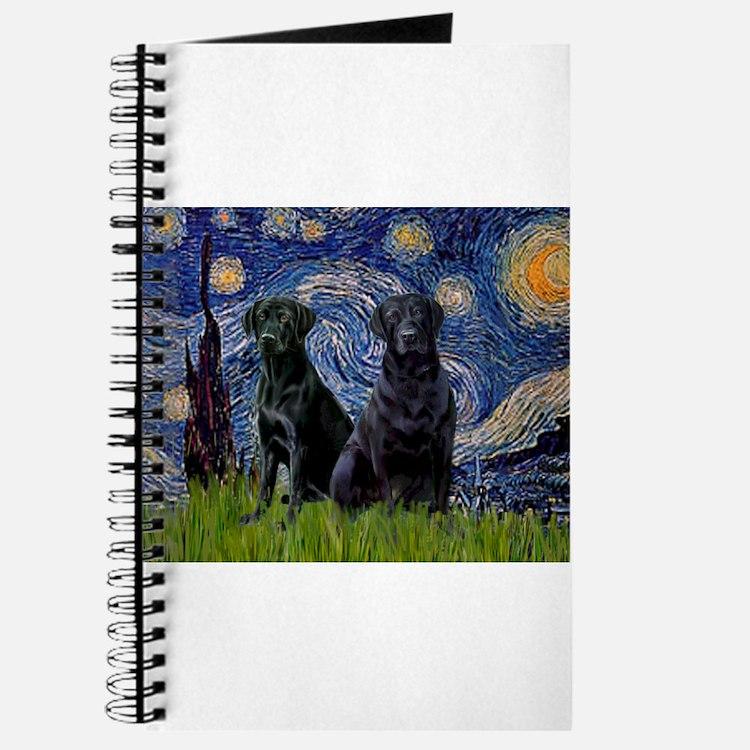 Starry Night / 2 Black Labs Journal