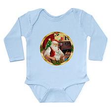 Santa's Maltese 11 Long Sleeve Infant Bodysuit