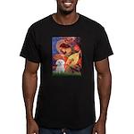 Mandolin Angel / Maltese Men's Fitted T-Shirt (dar
