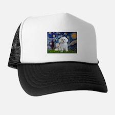 Starry Night / Maltese (R) Trucker Hat