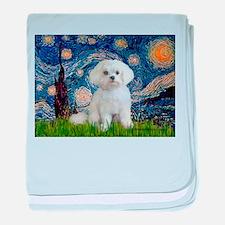 Starry Night / Maltese (R) baby blanket