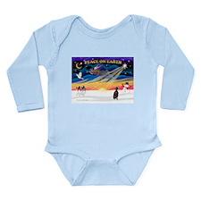 XmasSunrise/Min Pinscher Long Sleeve Infant Bodysu