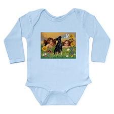 Angels & Min Pinscher Long Sleeve Infant Bodysuit