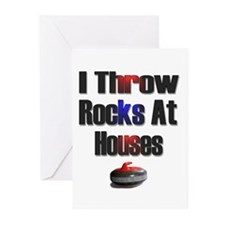 I Throw Rocks At Houses Greeting Cards (Package of