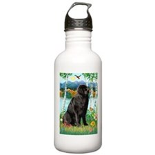 Newfie in the Birches Water Bottle