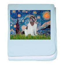 Starry Night / Landseer baby blanket
