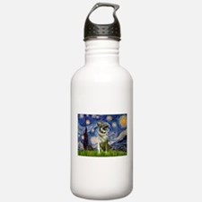 Starry Night Elkhound Water Bottle