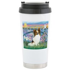 Lilies / Papillon (f) Travel Mug