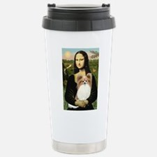 Mona & her Fawn Papillon Travel Mug