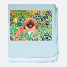 Irises / Pekginese (#1) baby blanket