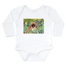 Irises / Pekginese (#1) Long Sleeve Infant Bodysui