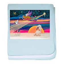 XmasStar/PBGV (#2) baby blanket