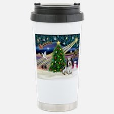 Xmas Magic/PBGV (#1) Stainless Steel Travel Mug