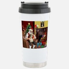 Santa's Petit Basset Stainless Steel Travel Mug