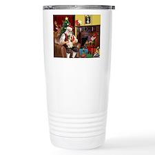 Santa's Petit Basset Travel Mug