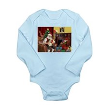 Santa's Petit Basset Long Sleeve Infant Bodysuit