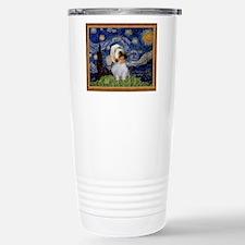Starry Night PBGV Stainless Steel Travel Mug