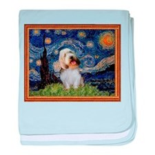 Starry Night PBGV baby blanket