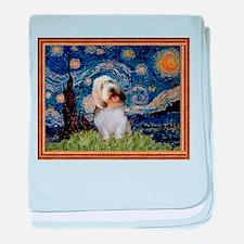 Starry Night PBGV baby blanket