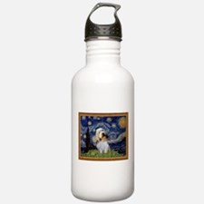 Starry Night PBGV Water Bottle