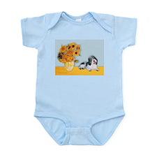 Sunflowers/ Petit Basset #8 Infant Bodysuit