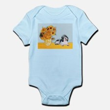 Sunflowers/ Petit Basset #8 Infant Bodysuit