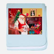 Santa's Pit Bull baby blanket